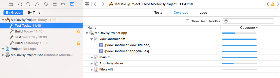 Leveraging Swift Code Coverage with Xcode 7 - viteinfinite